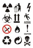 Useful Warning Symbols Royalty Free Stock Photography