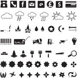 Usefull icons and symbols stock image