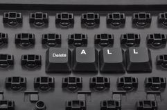 Useless. Keyboard collapsed and deleted some keys Royalty Free Stock Images