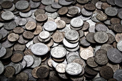 Useless coins Stock Photo