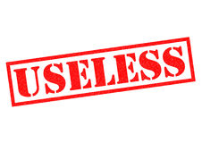 USELESS. Red Rubber Stamp over a white background Royalty Free Stock Photos
