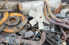 Useless, rusty brake discs and other parts Royalty Free Stock Image