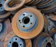 Useless, rusty brake discs Royalty Free Stock Photos