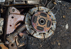 Useless,  rusty clutch discs and other parts Stock Photography