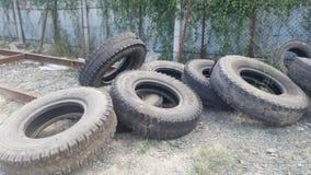 Useless tyre Royalty Free Stock Photo