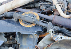 Useless, worn out rusty clutch discs and other Stock Photos