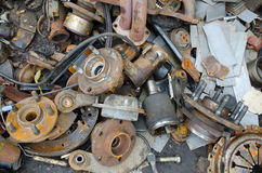 Useless, worn out rustyr parts Royalty Free Stock Images