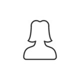 User account female line icon Royalty Free Stock Image