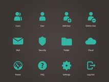 User Account icons. Vector illustration Stock Photos