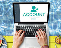 User Account Profile Social Network Concept Royalty Free Stock Images