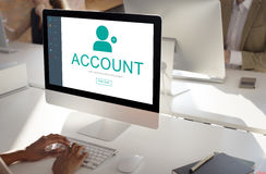 User Account Profile Social Network Concept.  Royalty Free Stock Images