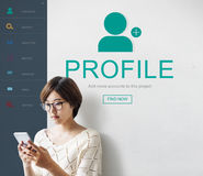 User Account Profile Social Network Concept. People Making New User Account Profile Social Network Stock Images