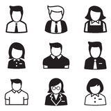 User,account, staff, employee maid icons vector illustration Sym. Bol Royalty Free Stock Photos