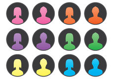 User avatar set Royalty Free Stock Photos