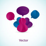 User buddies. Vector illustration of a detailed discussion board icon Stock Photo