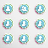 User buttons Stock Photo