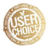 User choice stamp. Royalty Free Stock Images