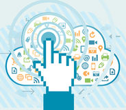 User Cloud Access Stock Images