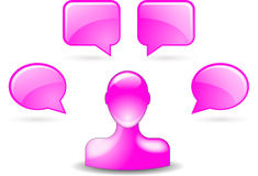 User comments by buddy icon. In pink stock illustration