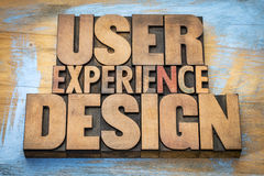 User experience design word abstract Stock Photo