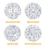 User Experience Doodle Illustrations vector illustration