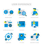 User Experience Flat Icons royalty free illustration