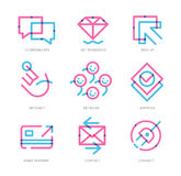 User Experience Icons Stock Photos