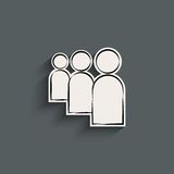 User flat icon Royalty Free Stock Photography