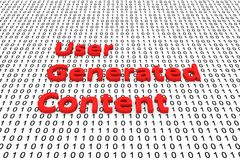 User generated content. In the form of binary code, 3D illustration Royalty Free Stock Photos