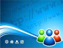 User group on internet background Stock Photo