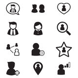 User , group, relation  icons set  for social network applicatio. N Vector illustration Graphic Design Stock Photo