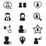 User , group, relation  icons Vector Symbol Illustration Royalty Free Stock Images