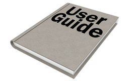 User guide Isolated on the white background Royalty Free Stock Image