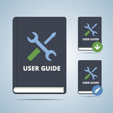 User Guide Manual Book Illustration. In flat style with settings icon and download edit modofications vector illustration