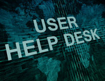 User Help Desk Stock Photography