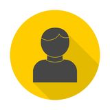 User icon with long shadow. Icon royalty free illustration
