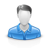 User icon man. Vector illustration of user man on white background Royalty Free Stock Photography