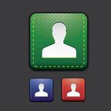 User icon set - green, red, blue Royalty Free Stock Images