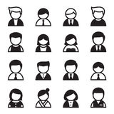 User Icon set Vector Royalty Free Stock Images