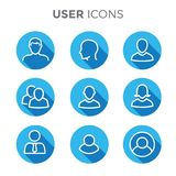 User Icon Set with Man, Woman, & Multiple People Royalty Free Stock Photography