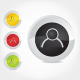 User Icons. 3d-Vector user icon of male in colors Royalty Free Stock Photography