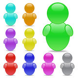 User Icons. Colorful user icons on a white background Stock Photo