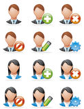 User icons Royalty Free Stock Images