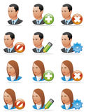 User icons (detailed face) Stock Image