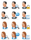 User icons (detailed face) Royalty Free Stock Photography