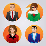 User icons with faces of people Stock Image