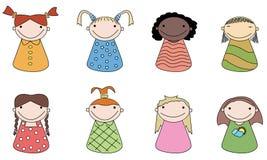 User icons. Girls. Royalty Free Stock Image