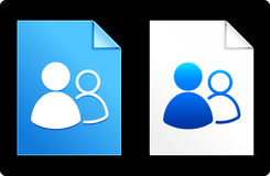 User Icons on Paper Set Royalty Free Stock Photos
