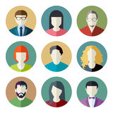 User Icons. And People Icons in flat modern style. Vector illustration Royalty Free Stock Photography