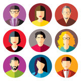 User Icons. And People Icons in flat modern style. Vector illustration Stock Photo